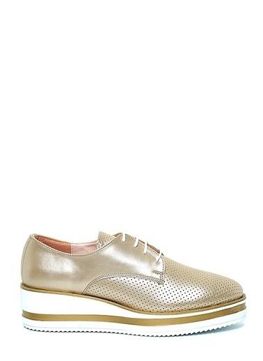 Kuum Dolgu Tabanlı Ayakkabı Altın